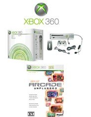 """Xbox 360 """"Premium Gold Pack"""" Video Game System with 6 of the Coolest Games"""