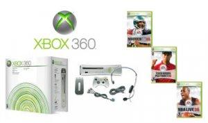 Xbox 360 Premium Gold Pack Mega Sports Bundle Video Game System