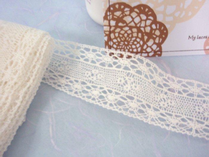2metre White VINTAGE lace