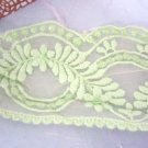 2metre GREEN leaf embroidery lace