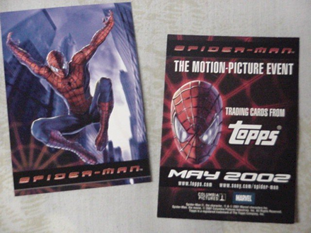 Topps Promo card Spiderman Twin Towers