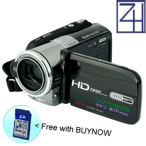 Hi-Def camcorder (720P, HDMI, 5X Optical)