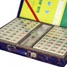 Chinese Mahjong Game Set With Silk Carrying Case LG