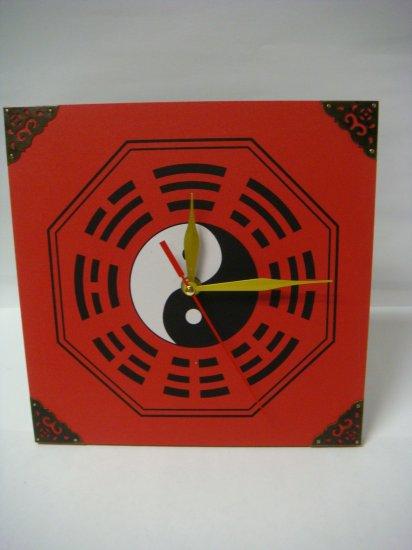 Zen Art Feng Shui Wall Decor Clock w. Chinese Lucky Symbol