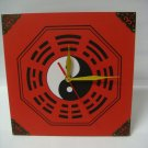 Zen Art Feng Shui Wall Decor Clock w. Chinese Lucky Symbol