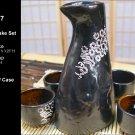 Glazed Ceramic 5 Pcs Japanese Sake Set (Box 77)