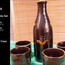 Glazed Ceramic 5 Pcs Japanese Sake Set  (Box 34)