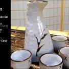 Glazed Ceramic 5 Pcs Japanese Sake Set (Box 75)