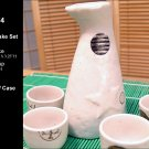 Glazed Ceramic 5 Pcs Japanese Sake Set (Box 74)