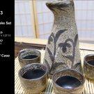 Glazed Ceramic 5 Pcs Japanese Sake Set (Box 73)