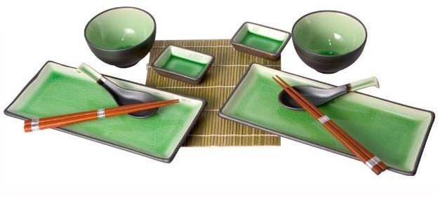 Crackle Design Sushi Set for Two (G278A)