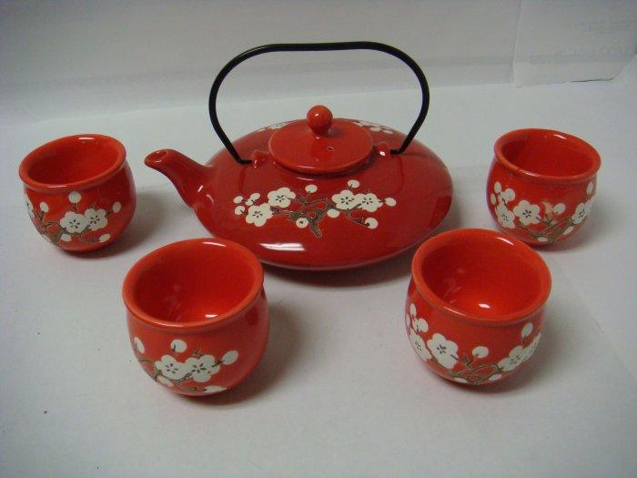 Contemporary Art Decor Porcelain tea set 5 pcs In Wooden Gift Box (DB336)