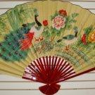 """Classic 35"""" Oriental Feng Shui Wall Fan-Flowers (BF1)"""