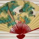 "Classic 35"" Oriental Feng Shui Wall Fan-Flowers (CT1)"