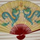 """Classic 35"""" Oriental Feng Shui Wall Fan-Flowers (D2)"""