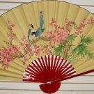 """Classic 35"""" Oriental Feng Shui Wall Fan-Flowers (FB2)"""