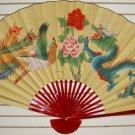 """Classic 35"""" Oriental Feng Shui Wall Fan-Flowers (DP1)"""