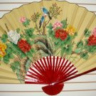 "Classic 35"" Oriental Feng Shui Wall Fan-Flowers (FB3)"