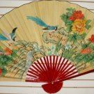 "Classic 35"" Oriental Feng Shui Wall Fan-Flowers (FB4)"