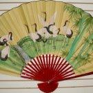 """Classic 35"""" Oriental Feng Shui Wall Fan-Flowers (CT2)"""