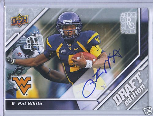 ~~~SOLD~~~Pat White 09 UD Draft Edition Autograph - On Card Auto!