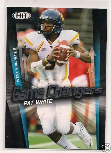 PAT WHITE 2009 09 Sage Hit Football Card # GC 15 PAT WHITE insert game changers