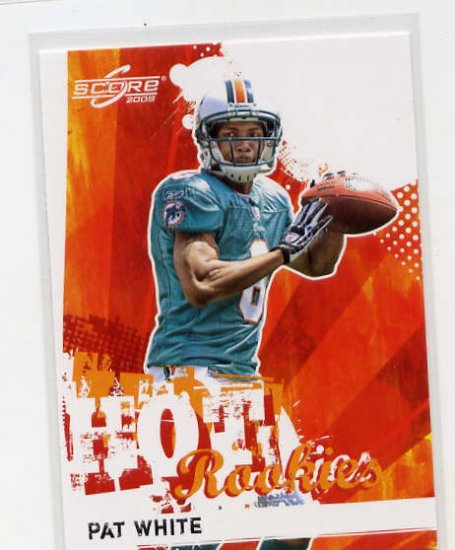 PAT WHITE WVU MIAMI DOLPHINS SCORE RED HOT ROOKIE