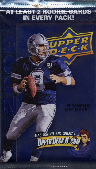 UPPER DECK 2009 ROOKIE CARD PACK AT LEAST 2 RC PER PACK