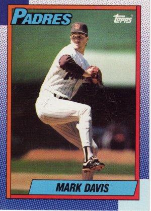 Topps 1990 Baseball Trading Card Mark Davis Padres