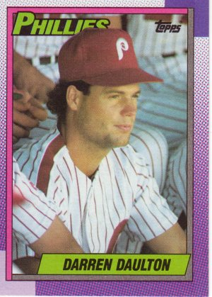 Darren Daulton Phillies Topps 1990 Baseball Trading Card