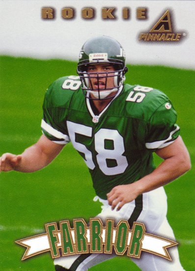James Farrior Rookie Pinnacle 1997 Trading Card Jets