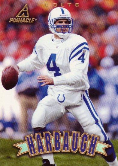 Jim Harbaugh Pinnacle 1997 Football Trading Card Colts