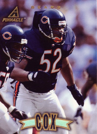Bryan Cox Pinnacle 1997 Football Trading Card Bears