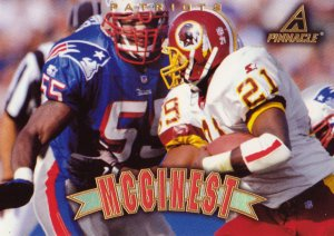 Willie McGinest Pinnacle 1997 Football Trading Card Patriots