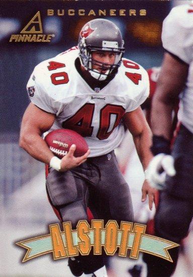 Mike Alstott Pinnacle 1997 Football Trading Card Buccaneers