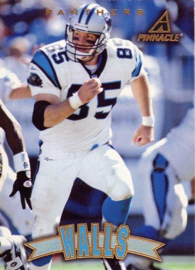 Wesley Walls Pinnacle 1997 Football Trading Card Panthers