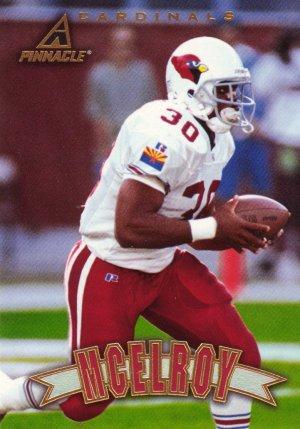 Football Trading Card Leeland McElroy Pinnacle 1997 Cardinals