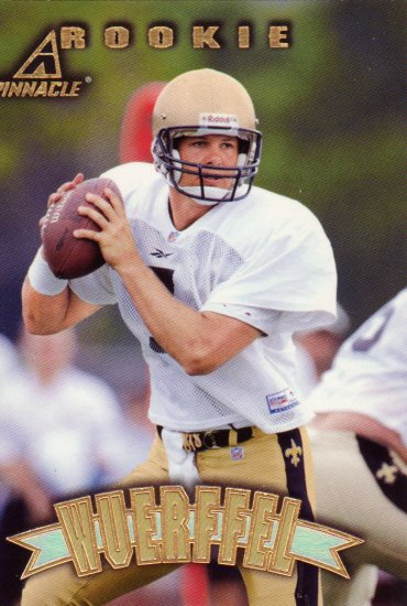 Danny Wuerffel Rookie Pinnacle 1997 Football Trading Card Saints