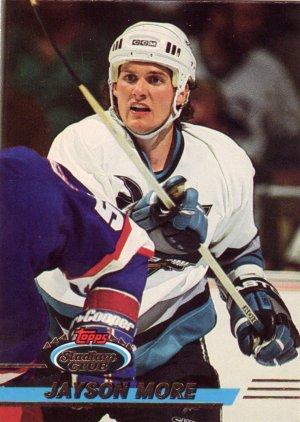 Jayson More Topps Stadium Club 1993 Hockey Trading Card Sharks