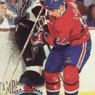 John LeClair Topps Stadium Club 1993 Hockey Trading Card Canadiens