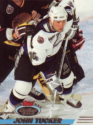 Trading Card Hockey Lightening John Tucker Topps Stadium Club 1993