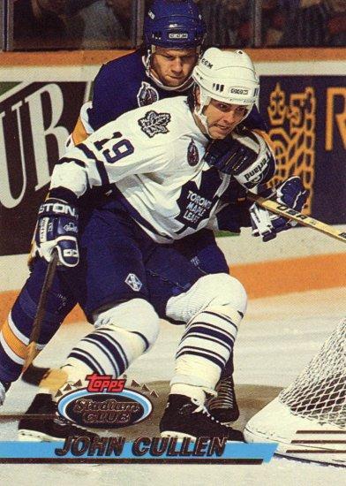 John Cullen Topps Stadium Club 1993 Hockey Trading Card Maple Leafs