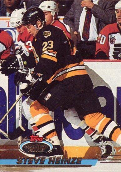 Steve Heinze Topps Stadium Club 1993 Hockey Trading Card Bruins