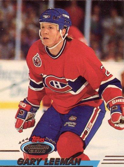 Gary Leeman Topps Stadium Club 1993 Hockey Trading Card Canadiens