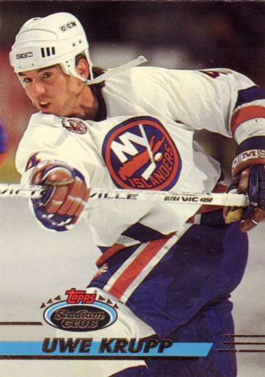 Hockey Trading Card Islanders Uwe Krupp Topps Stadium Club 1993
