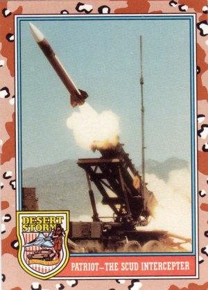 Desert Storm Trading Card Topps 1991 2nd Series Patriot The Scud Intercepter