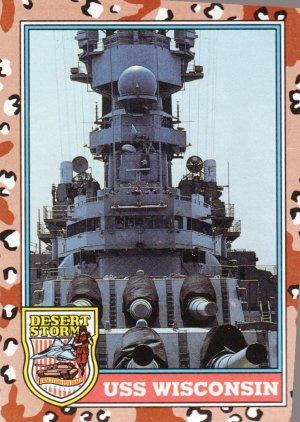 Desert Storm Trading Card Topps 1991 2nd Series USS Wisconsin