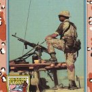 Desert Storm Trading Card Topps 1991 2nd Series Machine Gun