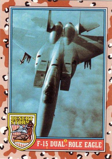 Desert Storm Trading Card Topps 1991 2nd Series F 15 Dual Role Eagle