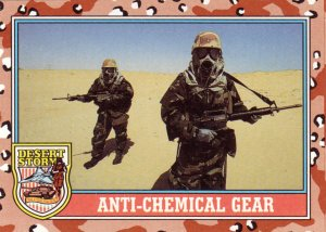 Desert Storm Trading Card Topps 1991 2nd Series Anti Chemical Gear